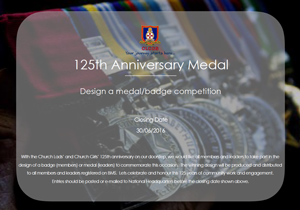 125th Anniversary Medal - Design a Badge and Medal