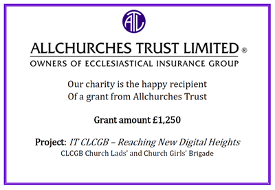 CLCGB secures grant from Allchurches Trust