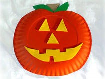 Craft - Halloween Pumpkin Plate