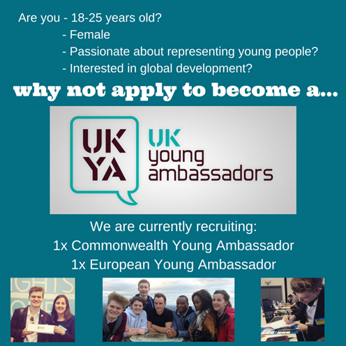 The UK Young Ambassadors are recruiting
