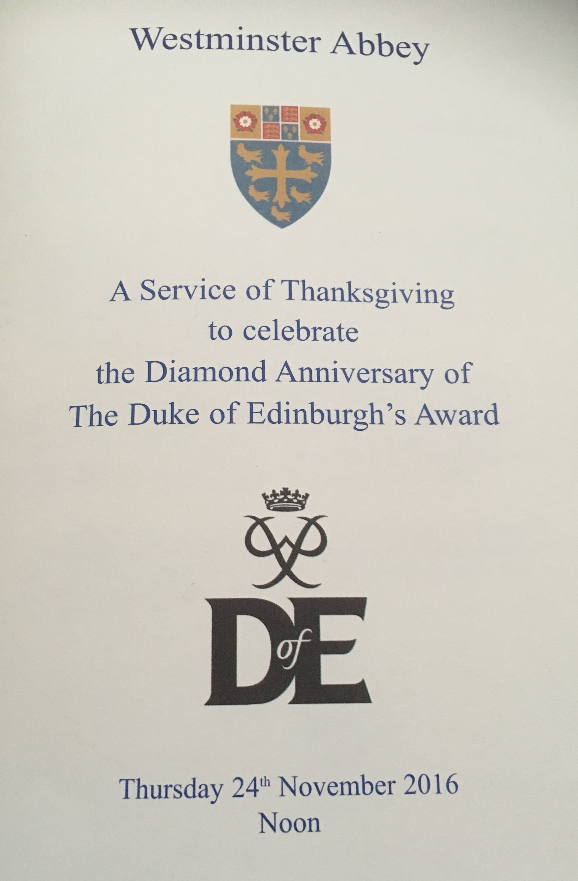 DofE Diamond Anniversary of the DofE Award
